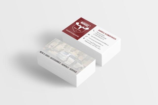 MMS Business Card Mockup
