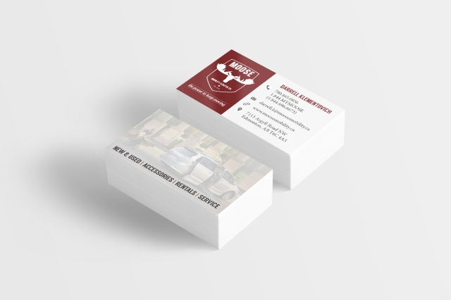 MMS Business Card Mockup